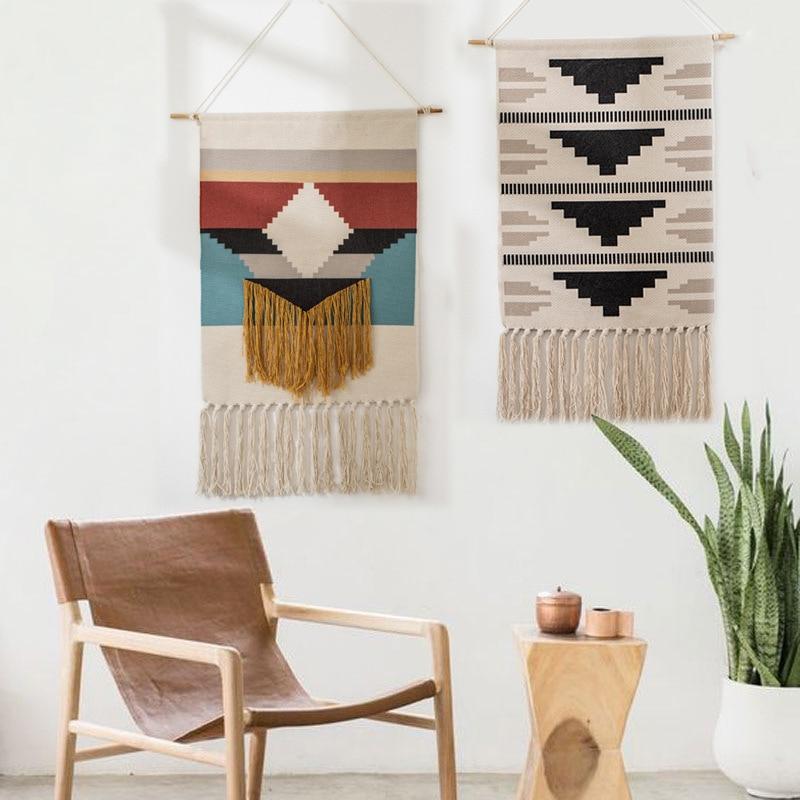 Fabric Hanging Tapestry Boho Persian Home Decoration Watt-hour Meter Box Cover Geometric Printing Wall Hanging Blanket Decor