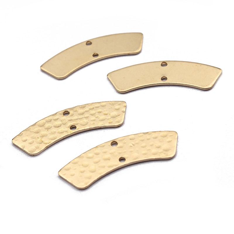 20 штук кованые латунные 28x8mm Арка моста прелести разъем для серьги-подвески ювелирные изделия делая выводы для декораций