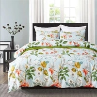 plant flower printed bed linens set single double queen king sizes pillowcase duvet cover sets bed cover set new 3pcs linens