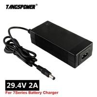 Зарядное устройство для литиевых аккумуляторов, 29,4 в, 2 А, 24 В, 25,2 в, 25,9 в