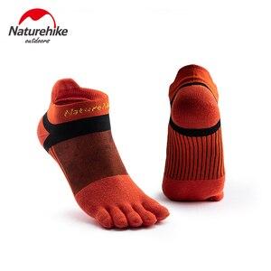 Naturehike running sports five finger socks men and women moisture wicking socks NH20FS002