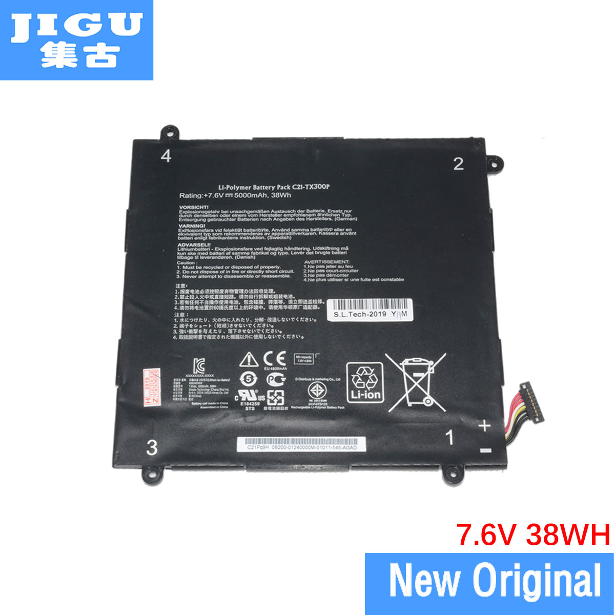 JIGU بطارية كمبيوتر محمول 0B200-00310200 C21-TX300P ل ASUS ل محول كتاب TX300 TX300CA
