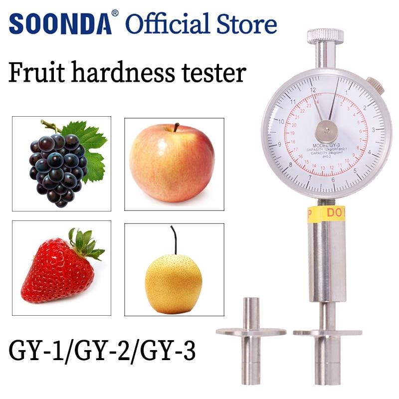 المحمولة مؤشر الفاكهة اختبار صلابة GY-3 الفاكهة اختراق للتفاح الكمثرى العنب البرتقال GY-2 GY-1 الفاكهة