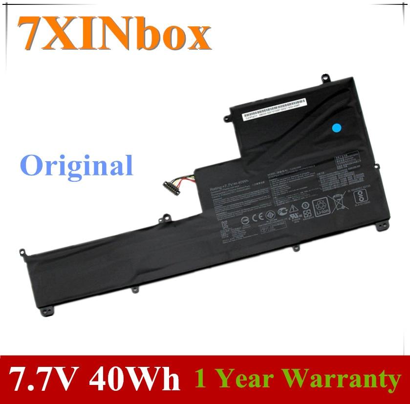 7XINbox 7.7V 40Wh 5195mAh الأصلي C23N1606 C23PQCH بطارية كمبيوتر محمول ل ASUS Zenbook 3 الوجه UX390 UX390UA UX390UA-1A UX390UA1A