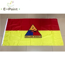 USA 2nd Armored Division Flag 2ft*3ft (60*90cm) 3ft*5ft (90*150cm) Size Christmas Decorations for Ho