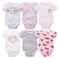 2021 6pcs baby girls clothes pink girls clothing unisex bodysuits baby girls clothes 0 12m newborn 100cotton roupas de bebe