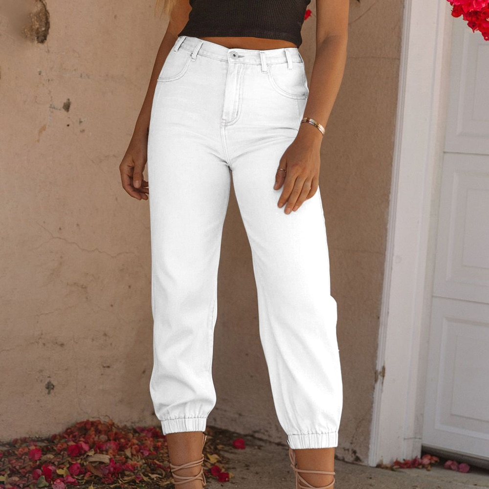 straight leg mid rise faded jeans DIFIUPAI Womens Jeans Stretch Distressed Mom Jeans Cropped Baggy Harem Pants Streetwear Straight Leg Jeans Slacks Mid Waisted
