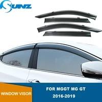 side window deflectors for mggt mg gt 2016 2017 2018 2019 smoke window visors weathershields wind rain guards sunz