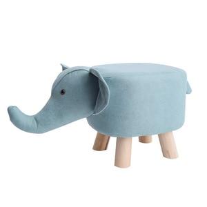 Creative Animals Shape Stool Shoes Stool Small Stool Domestic Footstool Calf Cartoon Low Stool Solid Wood Sofa