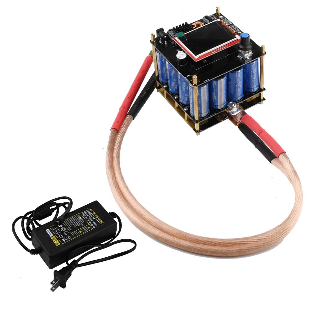 Portable Spot Welder Equipment 5.4V 400F DIY LED Pulse Spot Welding Machine Set Semi-automatic Welder Tools 0.25mm 18650 Battery