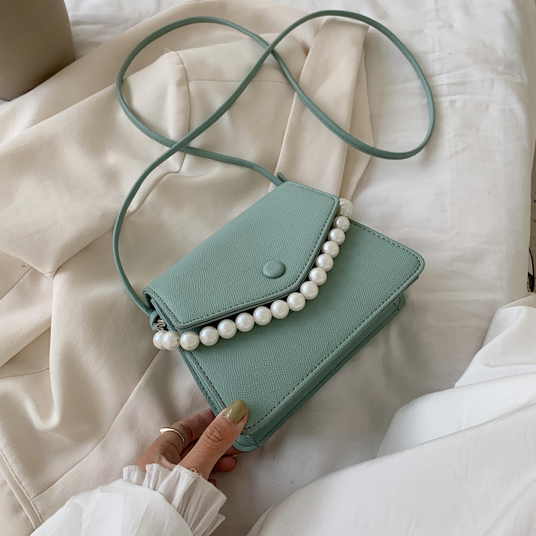 Pearl Design PU Leather Crossbody Bags For Women 2020 Mini Shoulder Messenger Bag Female Fashion Handbags and Purses
