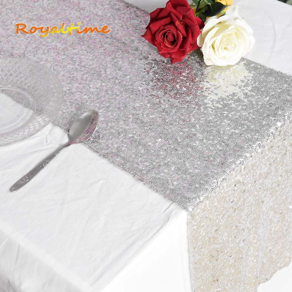 30x180cm oro/oro rosa/plata/oro claro/champán lentejuelas camino de mesa para fiesta mantel bodas decoración corredores de mesa