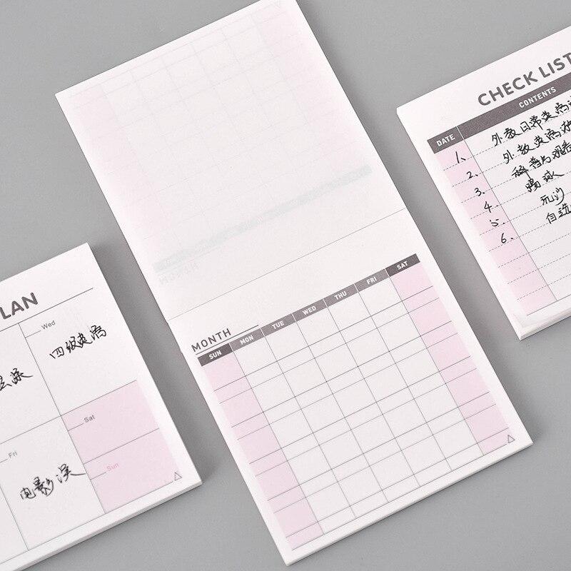 Bloc de notas para cuaderno, planificador semanal, zeszyty, szkolne, libreta adhesiva, notas...
