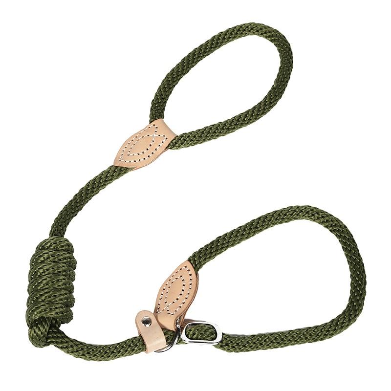 Correa de paseo para el perro de algodón redondo de 170cm cuerda de cáñamo de 4 colores correas largas para mascotas de cuero de vaca correa de perro para exterior cuerdas de entrenamiento para caminar