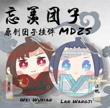 MDZS Anime peluche grand maître de la culture démoniaque Wei Wuxian Lan Wangji mignon fourrure pendentif en peluche poupée jouet cadeau Mo Dao Zu Shi