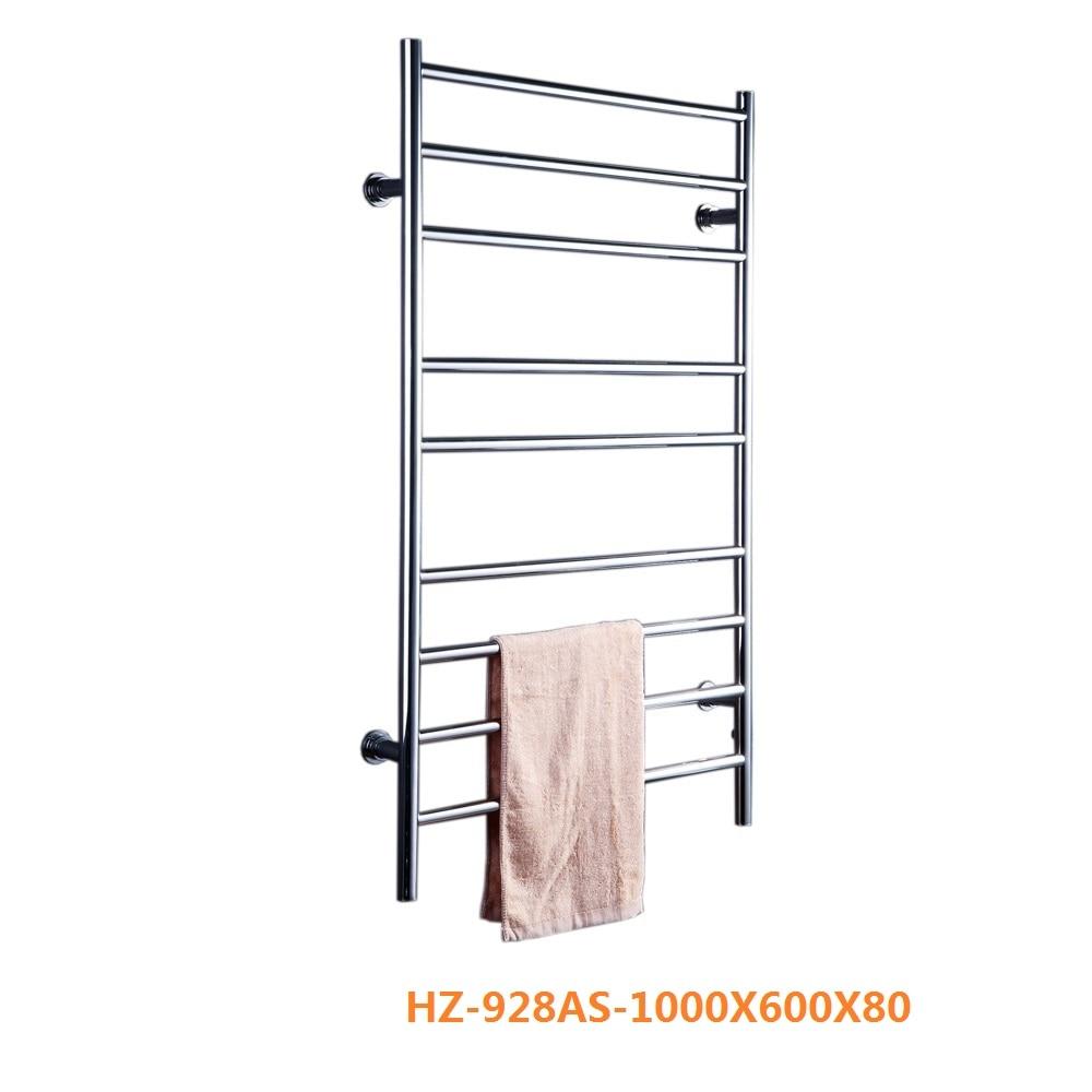 Envío Gratis acero inoxidable 304 montado en la pared estante eléctrico calentador de toallas/secador/radiadores HZ-928A