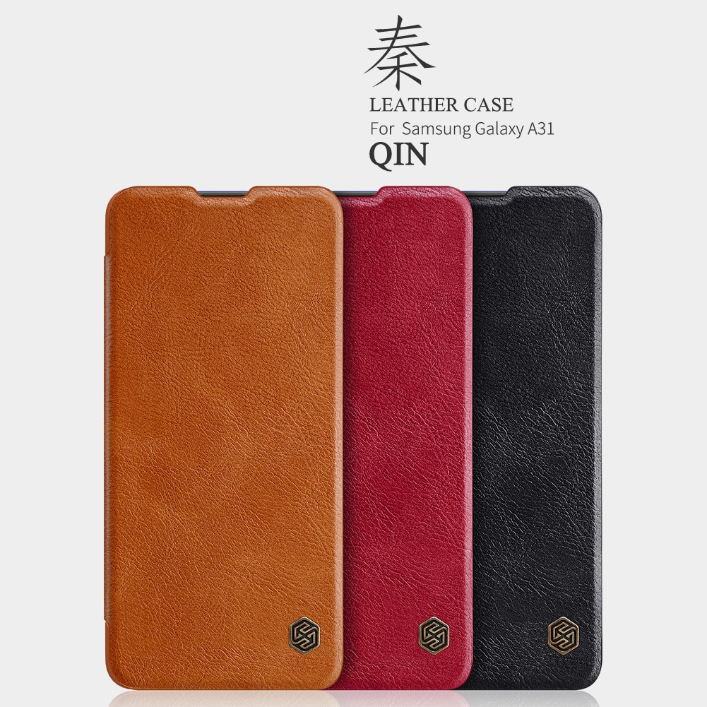 for Samsung Galaxy A31 Case NILLKIN Vintage Qin Flip Cover Wallet PU Leather Plastic Back Cover Case for Samsung A31