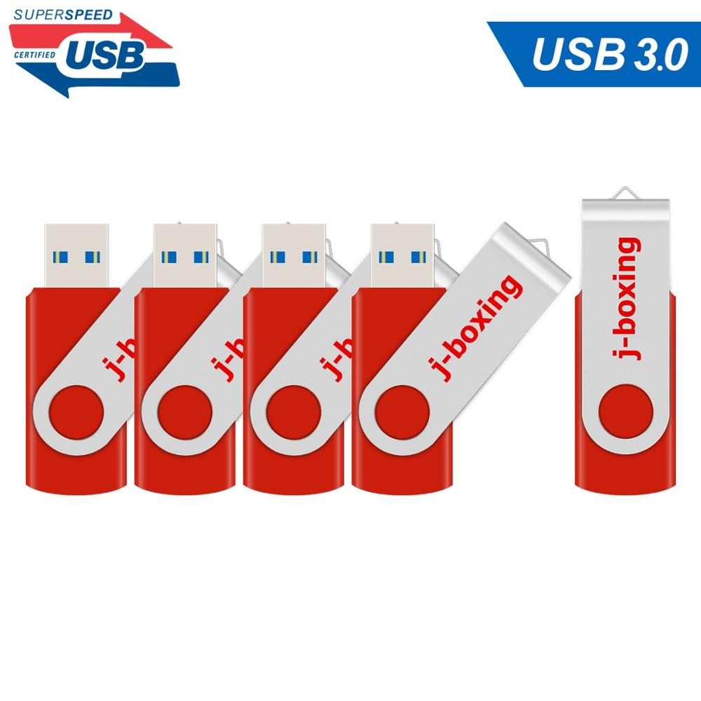 5 Lots 32GB USB 3.0 Flash Drive 16GB 64GB usb3.0 Pendrive Metal Rotating Flash Memory Stick High Speed usb flash drives Red Disk