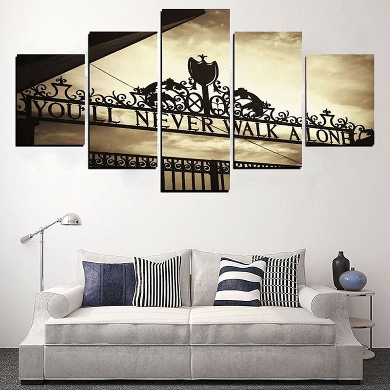 5 uds. Pinturas en lienzo modernas para decoración del hogar, lienzos, pinturas en lienzo, cuadros sin marco, pintura colgante impermeable