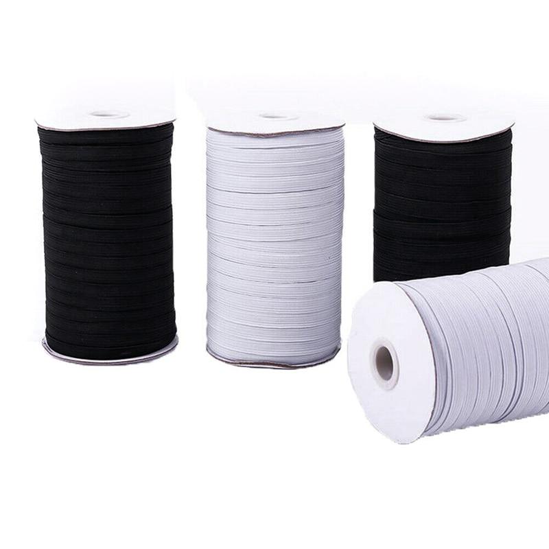 70/100/200 ярдов плетеная эластичная лента веревка 6 мм тяжелая растягивающаяся высокая эластичность трикотажная катушка для шитья ремесел объ...