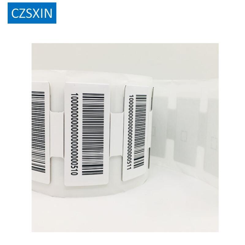 للطباعة طويلة المدى ISO18000-6C السلبي UHF على المعادن RFID ملصقا علامة UHF لينة برمجة epc gen2 rfid مكافحة المعادن علامة