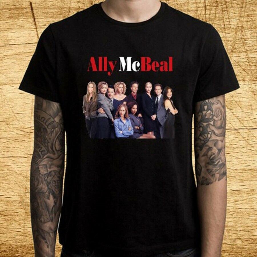 Camiseta negra para hombre, camiseta de serie de TV de Ally Mcbeal,...