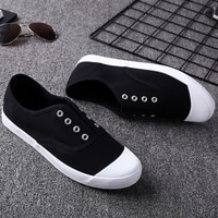 new canvas shoes mens sports a pedal lazy mens shoes students korean style breathable wild trend white shoes