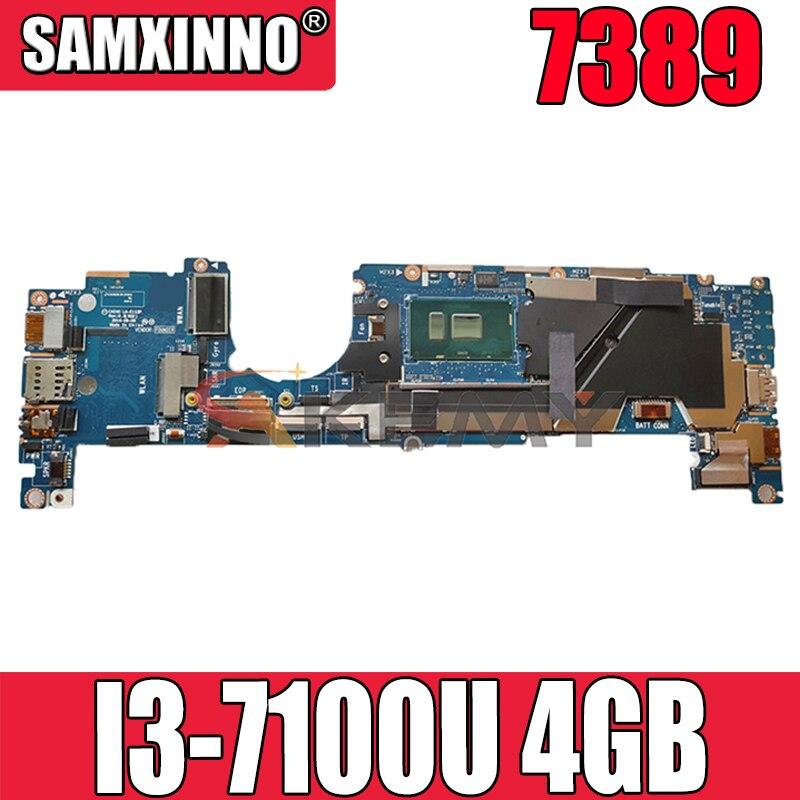 Akemy I3-7100U 4GB لأجهزة الكمبيوتر المحمول DELL Latitude 7389 اللوحة الأم LA-E111P CN-0J9XP9 J9XP9 اللوحة الرئيسية 100% اختبارها