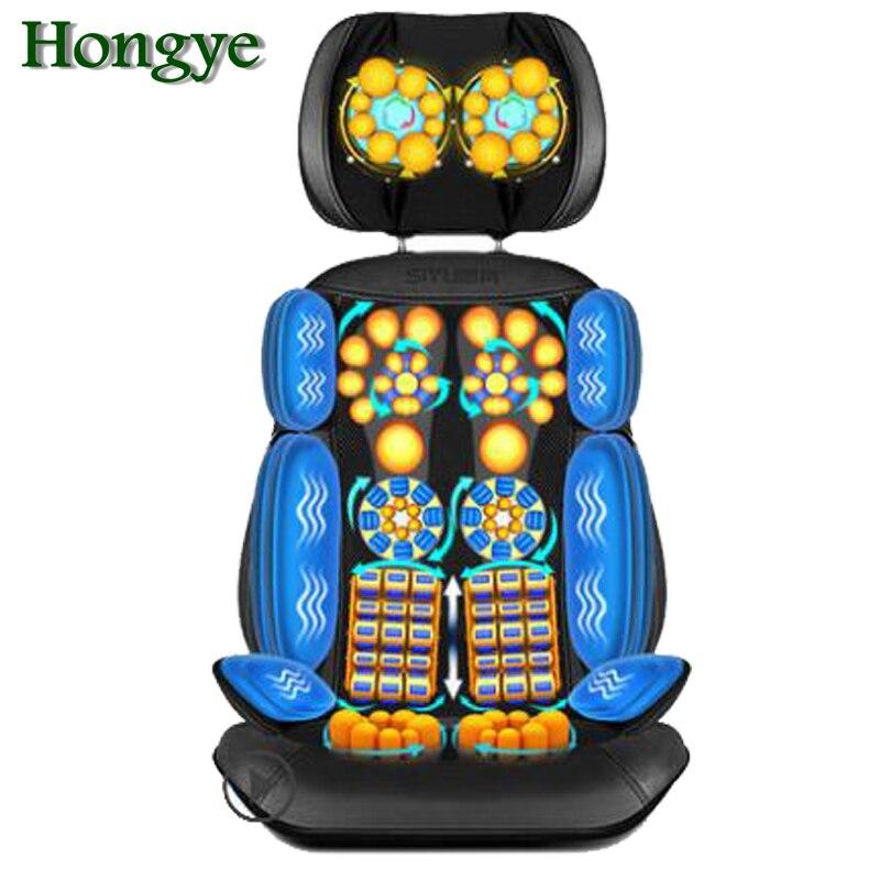 ¡Producto en oferta! Rodillo eléctrico antiestrés de 220V con vibración Shiatsu, cojín de masaje para espalda y cuello, dispositivo de silla