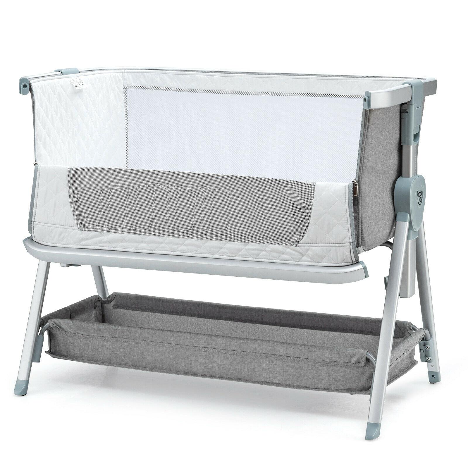 Baby Bed Side Crib Portable Adjustable Infant Travel Sleeper Bassinet Light