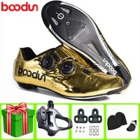 boodun road cycling shoes new ultralight carbon fiber self locking pro bike shoe breathable bicycle racing athletic sneakers men