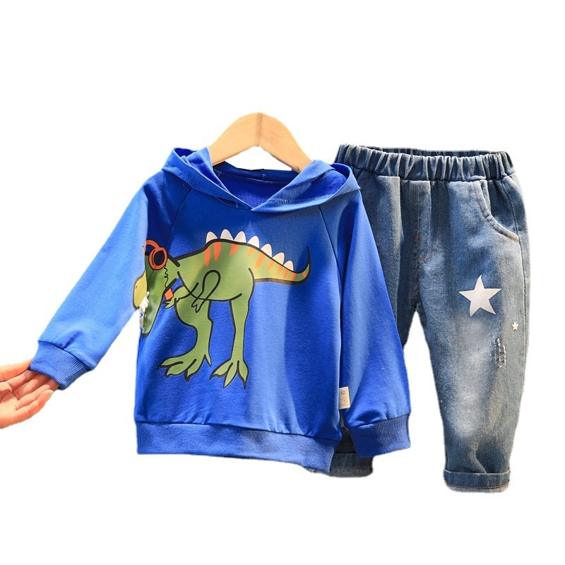 New Spring Autumn Children Cartoon Clothes Baby Boys Girls Casual Hoodies Pants 2Pcs/sets Kids Toddler Clothing Infant Tracksuit
