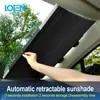 LOEN 1 חתיכה נשלף קדמי אחורי רכב שמשיה שמשה קדמית צל חלון שמש שמשיה מגן סרט עבור רכב חלון אוטומטי אבזרים