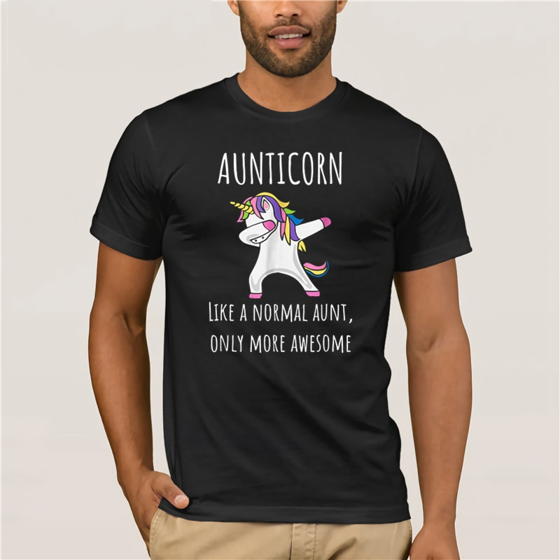 Homem legal-camiseta marca aunticorn como uma tia só impressionante dabbing unicorn qualidade moda manga curta camiseta masculina