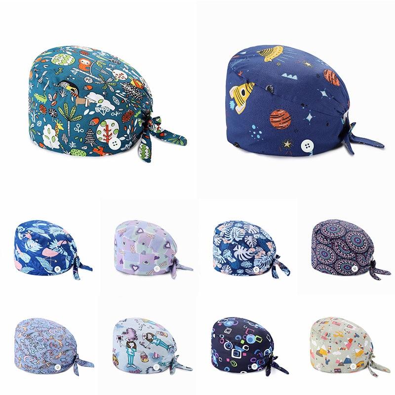 Women's Operating Room Hats Pharmacy Nursing Cap Laboratory Pet Shop Doctor Hat Surgicals Hat Unisex