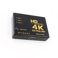 Видеоадаптер HDTV, переключатель с 3 портами 4K * 2K 1080P, совместимый с HDMI
