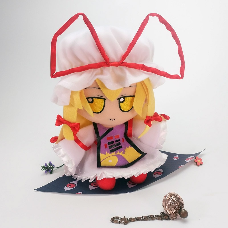 Japón Anime touzhou proyecto Yakumo yukari para Cosplay Linda muñeca de peluche relleno almohada sentado juguete niño niña regalos de navidad