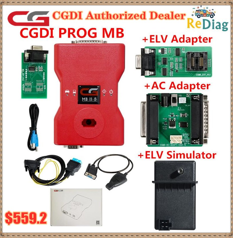2020 Latest CGDI Prog MB for Benz Car Key Add Fastest for Benz Key Programmer with all Adapter Suppo