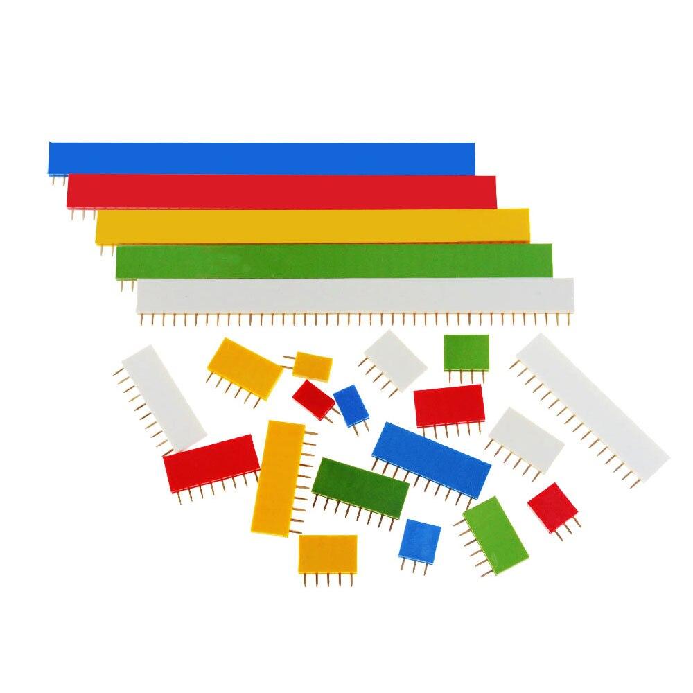 10 Uds 2,54mm fila única mujer placa PCB conector de pines de Pinheader 1x2P 3 4 6 8 10 16 40P 1 Pin colorido hembra