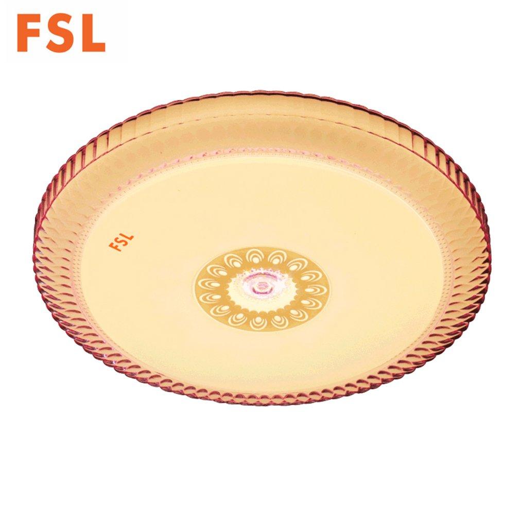 Fsl 25 w pode ser escurecido led redondo lâmpada de teto mudança de cor acrílico teto montado luz ac 220 v-240 v branco/branco morno/amarelo 35/41 cm