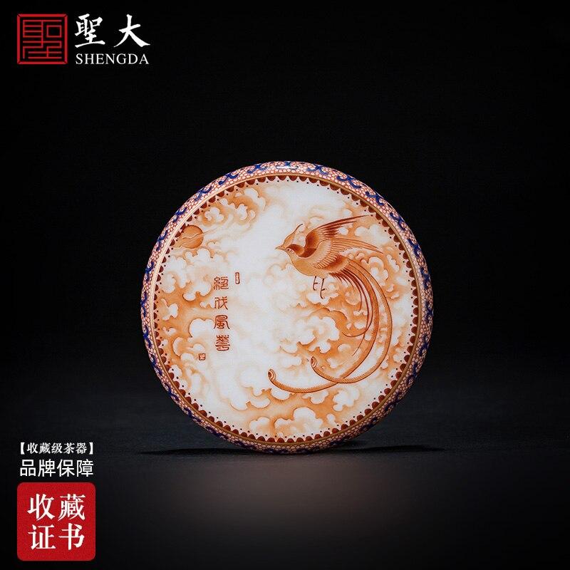 مجموعة غطاء من ناحية نقية رسمت الشب اللون الأحمر peerless Fenghua مجموعة غطاء اليدوية Jingdezhen الكونغفو طقم شاي اكسسوارات