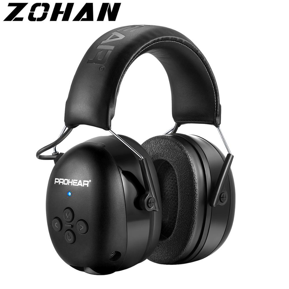 ZOHAN سماعة الإلكترونية 5.0 بلوتوث للأذنين اطلاق النار سدادات حماية الأذن سماعات لاسلكية إلغاء الضوضاء شحن للموسيقى