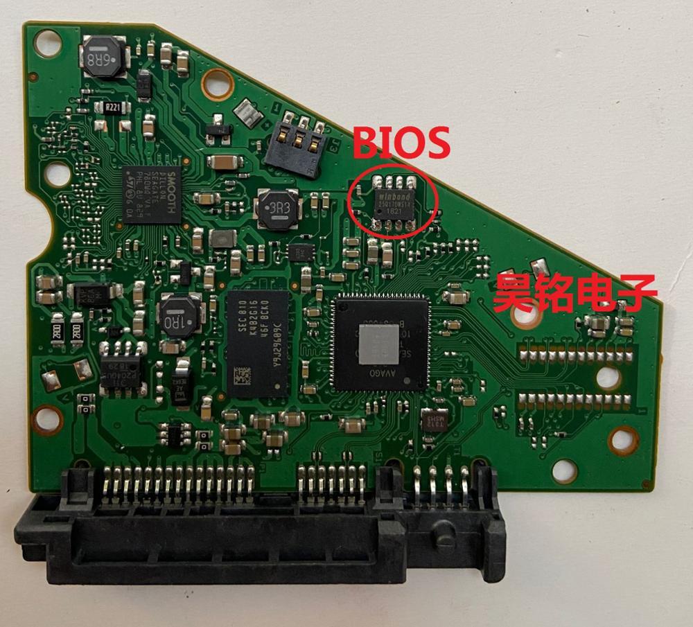 قرص صلب Seagate ST8000DM 2CX188 6 تيرا بايت بايت 8 تيرا بايت بايت, لوحة دارات مطبوعة رقم 100815597 REV D