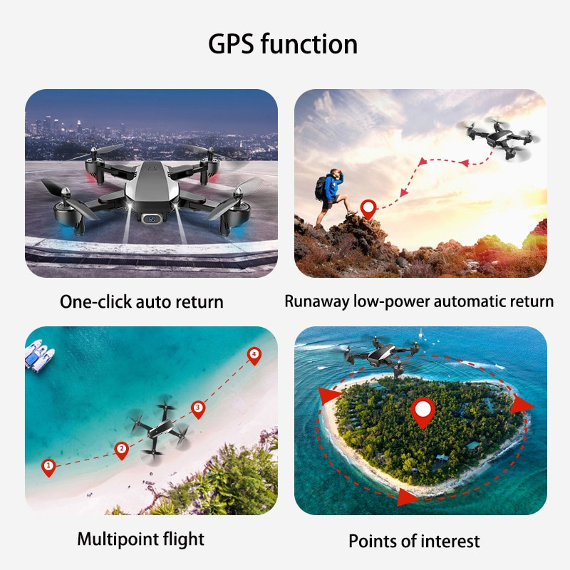 Folding 5G1600 meters remote control map transmission aerial GPS 4k ultra clear long battery life remote control drone enlarge