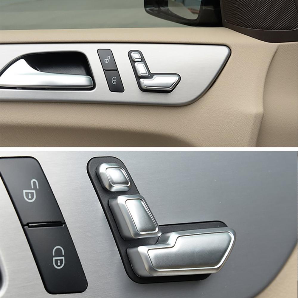 Cubierta de botón de ajuste para asiento de coche Airspeed, pegatina para Mercedes Benz A B C E Class W204 W212 GLA X156 CLA C117 GLE W166 ML GL GLS