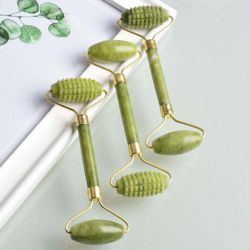 Massager For Face Jade Roller GuaSha Board Set Natural Face Gouache Scraper Body Back Beauty Skin Care Slimmer Massager Roller