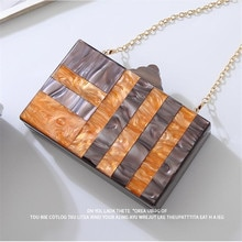 2020 new women Acrylic evening clutch bags wedding evening bags with chain patchwork women bags drop