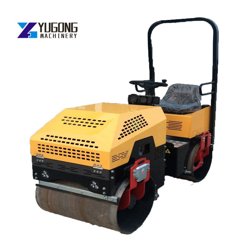 Infinitely Variable Speed Diesel Compactor Road Rolling Machine Double Drum Vibratory Static Road Roller Manufacturer Price