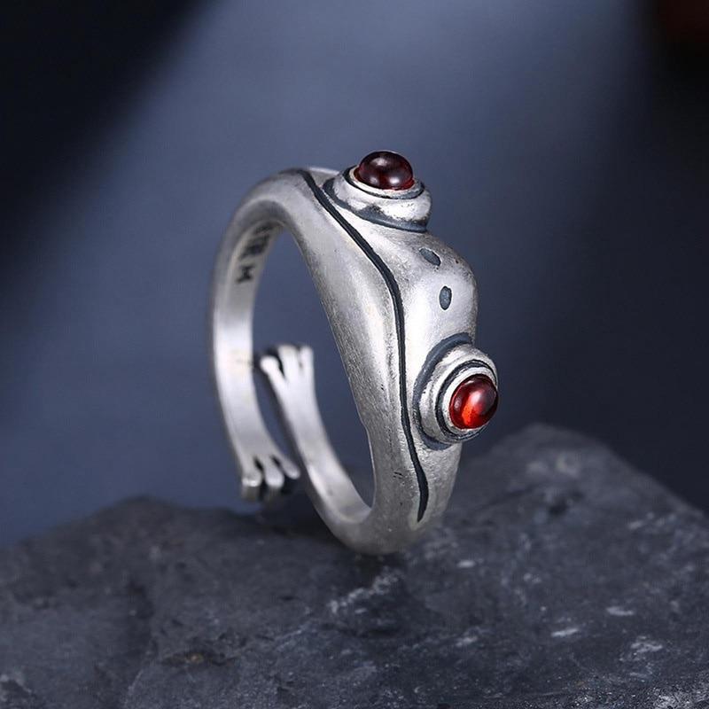 Bohemian Dier Kikker Verstelbare Vinger Ring Voor Vrouwen Mannen Vintage Punk Creative Animal Figuur Ring Valentijnsdag Sieraden