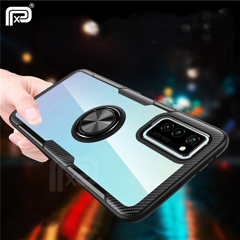 For Samsung Galaxy A51 Case Transparent Acrylic & Soft Silicone Bracket Case For Galaxy A71 A51 Fundas